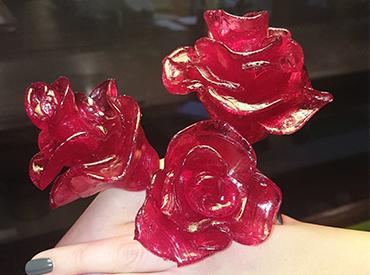 Rose lavet af bolchemasse